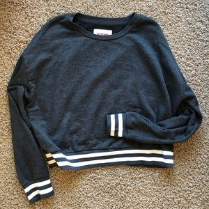 Mossimo Cropped Sweatshirt with stripe